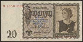 """R.178a: 20 Reichsmark 1939 """"Österreicherin"""" (1/1-)"""