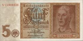 R.179b: 5 Reichsmark 1942 8-stellig  (1)