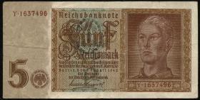 R.179F: 5 Reichsmark 1942 (3) braune Knr
