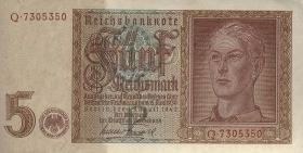 R.179F: 5 Reichsmark 1942 (1) braune Kenn-Nummer