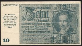 R.180: 10 Mark 1945 Notausgabe Schörner (3+)