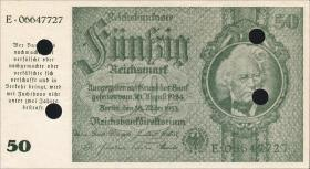 R.181E: 50 Reichsmark 1945 Schörner entwertet (1)