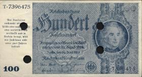 R.182E: 100 Reichsmark 1945 Schörner entwertet (1-)