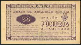 R.187: 50 Reichsmark 1945 Kärnten (1-)