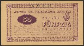 R.187: 50 Reichsmark 1945 Kärnten (1/1-)
