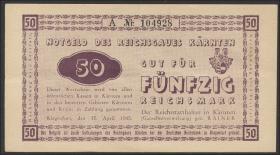 R.187: 50 Reichsmark 1945 Kärnten (3+)