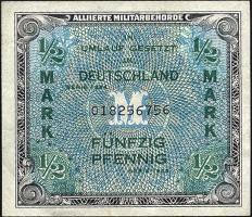 R.200a: 1/2 Mark 1944 US-Druck 9-stellig (1-)