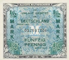 R.200a: 1/2 Mark 1944 US-Druck 9-stellig (1)