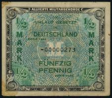 R.200b: 1/2 Mark 1944 US-Druck Ersatznote (4)