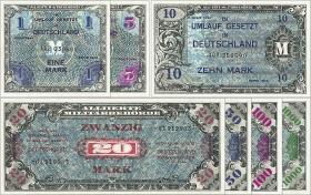 R.201-207 Banknotensatz Alliierter Kontrollrat(1)