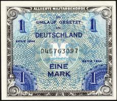 R.201a: 1 Mark 1944 US-Druck 9-stellig 1-)