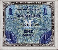 R.201b: 1 Mark 1944 US-Druck Ersatznote (1/1-)