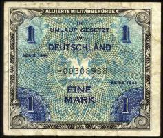R.201b: 1 Mark 1944 US-Druck 8-stellig (3-)