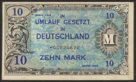 R.203b: 10 Mark 1944 US-Druck Ersatznote (1/1-)