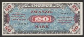 R.204a: 20 Mark 1944 US-Druck 9-stellig (1)