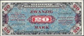R.204a: 20 Mark 1944 US-Druck 9-stellig (2+)