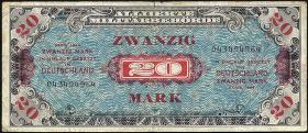 R.204a: 20 Mark 1944 US-Druck 9-stellig (3)