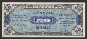 R.205a: 50 Mark 1944 US-Druck 9-stellig (1-)