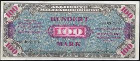 R.206d: 100 Mark 1944 UdSSR-Druck 8-stellig (1)