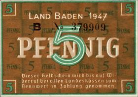 R.208b: Baden 5 Pfennig 1947 (1)