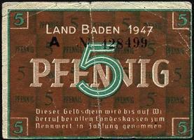R.208b: Baden 5 Pfennig 1947 (3)