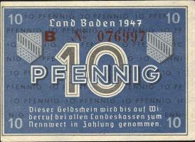 R.209d: Baden 10 Pfennig 1947 Serie B (1)