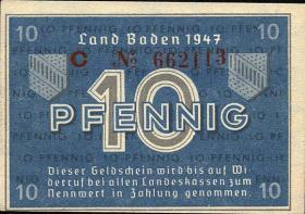 R.209d: Baden 10 Pfennig 1947 Serie C (1)