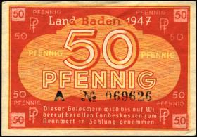 R.210: Baden 50 Pfennig 1947 (1/1-)