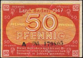 R.210: Baden 50 Pfennig 1947 (3)