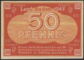 R.210M: Baden 50 Pfennig 1947 (1)