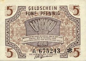 R.211: Rheinland-Pfalz 5 Pfennig 1947 Serie A (1)