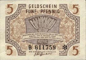R.211: Rheinland-Pfalz 5 Pfennig 1947 Serie B (1)
