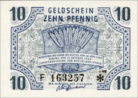 R.212: Rheinland-Pfalz 10 Pfennig 1947 Serie F (1)