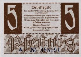 R.214a: Württemberg 5 Pf. 1947 A (1)