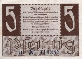 R.214a: Württemberg 5 Pf. 1947 (2)