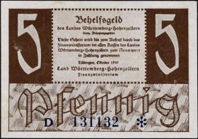 R.214b: Württemberg 5 Pf. 1947 D (1/1-)