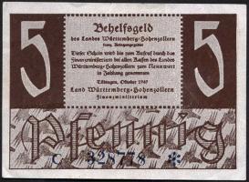 R.214b: Württemberg 5 Pf. 1947 (2)