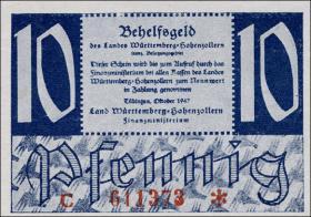 R.215b: Württemberg 10 Pf. 1947 C (1)