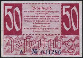 R.216a: Württemberg 50 Pf. 1947 (3+)