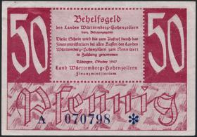R.216b: Württemberg 50 Pf. 1947 (2)