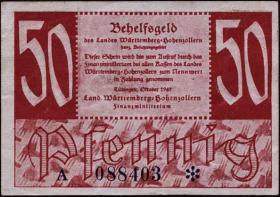 R.216b: Württemberg 50 Pf. 1947 (2+)