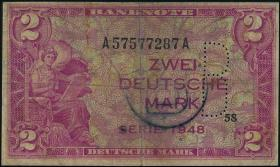 R.235c: 2 DM 1948 B-Stempel + Perforation (4)