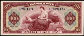"""R.244 100 DM 1948 """"Roter Hunderter"""" (2)"""