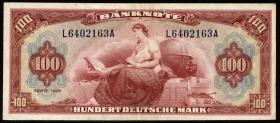"""R.244 100 DM 1948 (3+) """"Roter Hunderter"""""""