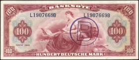 R.245a 100 Mark 1948 B-Stempel (3+)