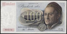 R.256 100 DM 1948 Bank Deutscher Länder 2-stellig F.74 (3+)