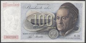 R.256 100 DM 1948 Bank Deutscher Länder 2-stellig (2)