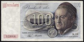 R.256 100 DM 1948 Bank Deutscher Länder 2-stellig K12 (3+)