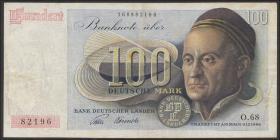 R.256 100 DM 1948 Bank Deutscher Länder 2-stellig (3)