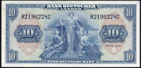 R.258 10 DM 1949 BDL Serie R/C (2)